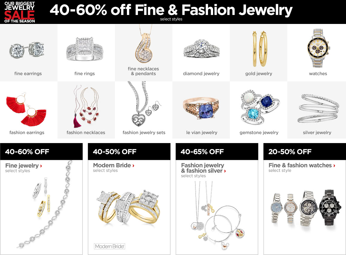 40-60% off Fine & Fashion Jewelry