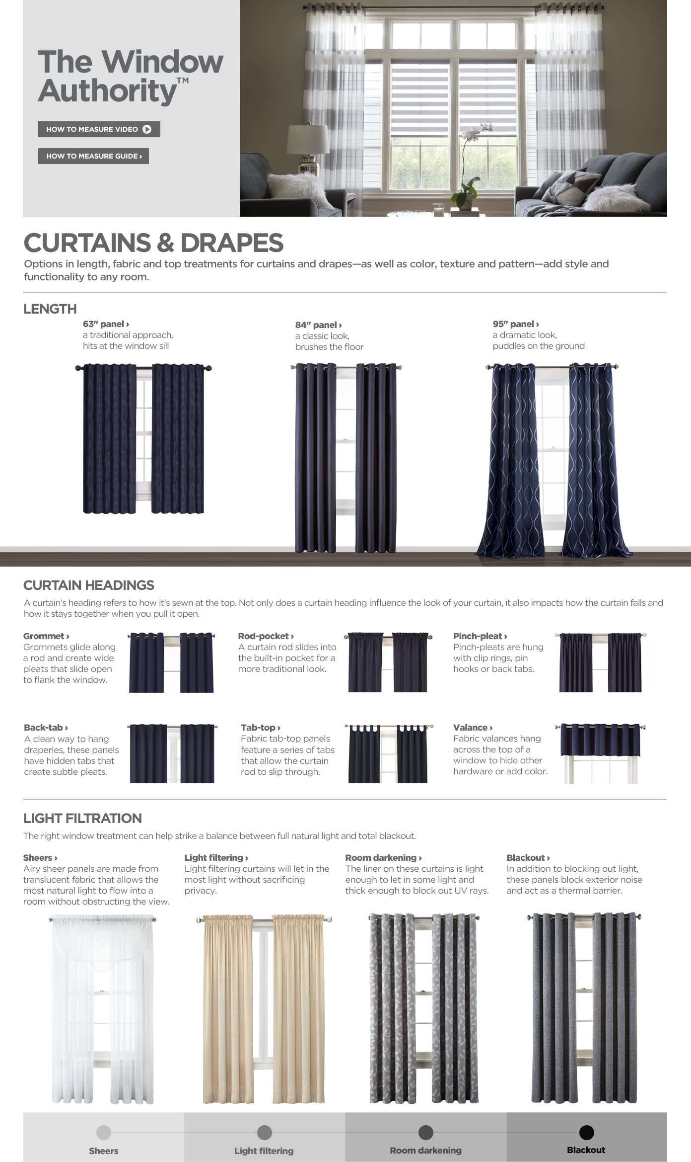 Shop Curtains and Drapes