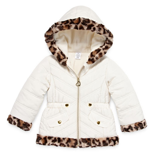 Good First Impressions Girl 3-6 Months Faux Fur Cream Colored Jacket Traveling Outerwear Girls' Clothing (newborn-5t)